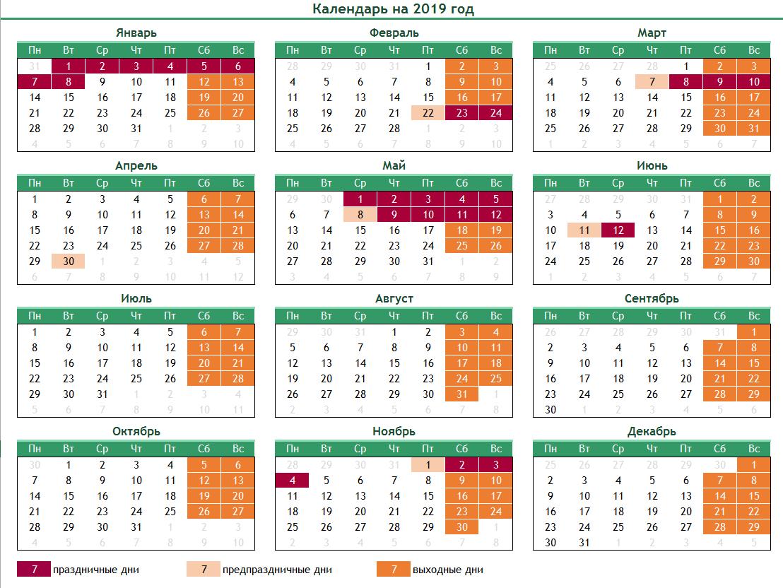 календарь утвержденный Минтруда