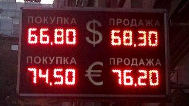 Принят запрет на уличные табло с курсами валют
